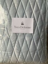 YVES DELORME Palmes Bedspread, Bed Throw/ Blanket, Blue