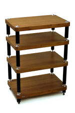 Atacama Evoque ECO 60/40 SE - Hi-Fi Stand (4 Shelf) (Dark Bamboo & Satin Black)