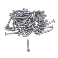 Silver Metal Guitar Tremolo Bridge Mounting Screw Set of 100