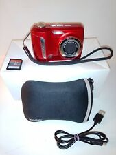 Kodak EasyShare C143 12.0MP Digital Camera - Red - With 16 GB SD - Bag - USB