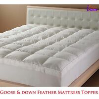 NEW LUXURY HOTEL QUALITY GOOSE FEATHER & DOWN MATTRESS TOPPER ALL SIZES