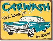 Carwash Best Hand Job In Town TIN SIGN Funny Shop Ad Wall Decor Art Metal Poster