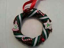 """Grapevine wreath ornaments with candy, cookies and berries 2 varieties - 4"""""""