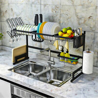 USA Over The Sink Dish Drying Rack Shelf Stainless Steel Storage Cutlery Holder