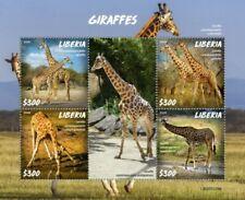 Liberia - 2020 Giraffes on Stamps - 4 Stamp Sheet - LIB200229a