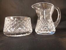 Waterford Crystal Alana Creamer and Sugar Bowl Set Beautiful
