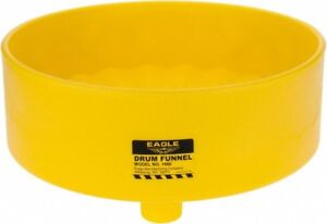 """Eagle 1660 Yellow Drum Funnel, 18"""" Diameter fits Standard 30 & 55 Gallon Drums"""