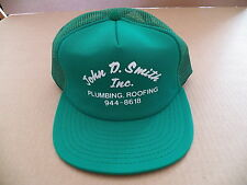 Vintage John D. Smith Inc. Plumbing Roofing Hat Cap Fleetwood PA Advertising