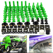 Fairing Bolt Kit Screws For Kawasaki ZRX1200R ZXR400 ZXR750 ZZ-R1200 Z CNC Green