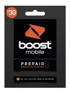 $30 BOOST (TELSTRA NETWORK) Prepaid STARTER PACK *HALF PRICE* **CHEAPEST**