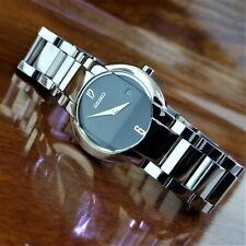 Vintage Womens SEIKO Raised Curvex Hi Low Crystal Silver TN Watch V789 0350