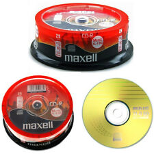 Genuine MAXELL CD-R 80 MINS XL-II Digital audio enregistrables vierges disques Pack 25
