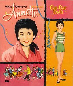 VINTAGE 1960s Annette PAPER DOLL~WHITMAN~ PRETTY HD LASER REPRODUCTION~ORG SZE
