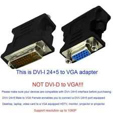 DVI-I to VGA Adapter, 1080P DVI 24+5 to VGA Male to Female Converter Adapter UK