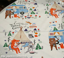 160cm*50cm Fox Picnic cotton fabric sewing baby quilting patchwork tecidos