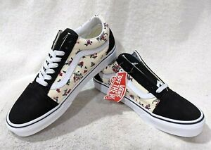 Vans Women's Old Skool Ditsy Floral Black/Multicolor Skate Shoes-Asst Sizes NWB