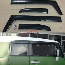 Window Sun Rain Visor Deflector Guard Shield 4P For Toyota FJ Cruiser 2007- 2014