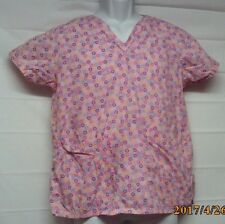 Women's Size Small Pink Floral Medical Nursing Career (T6)