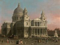 PAINTINGS OLD MASTER CANALETTO ST PAULS CATHEDRAL LONDON POSTER PRINT BB3213A