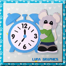BOY WITH CLOCK  Embellishments Paper Piecing card making & scrapbooking