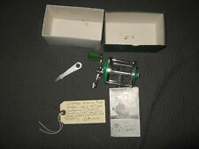 Vintage fishing reel Angler #2-75 works, Rust on foot, inc box,papers,wrench