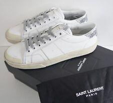 SAINT LAURENT SL/37 White GLITTER GALACTICA LOW-TOP Fashion Sneakers EU-41 US-11