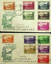 NORFOLK ISLANDS 1947 12V ON 2 COVERS TO GB . N43904