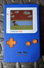 GameBoy Pocket Backlit IPS LCD Upgrade Blue Shell Orange Buttons GBP MGB-001