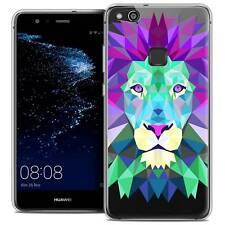"Coque Housse Etui Pour Huawei P10 LITE (5.2"") Polygon Animal Souple Fin Lion"