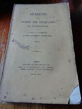 BULLETIN Société ANTIQUAIRES DE NORMANDIE 9è année 4ème trim. TOME V 1869