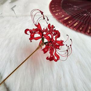 Lycoris Radiata Flower Hairpin Hanfu Cosplay Props Women Girl Elegant Hair Stick
