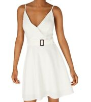 Sequin Hearts White Ivory Size Large L Junior A-Line Dress Smocked $49 231