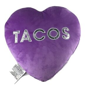 NWT 2SCOOPS Purple Scented Pillow TACOS