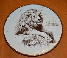 Rare Lion'S Head San Diego Zoo Wild Animal Park 1980'S Plate Zoological Society