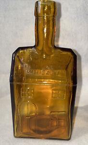 Wheaton E. C. Booz's Old Cabin Whiskey 1840 Amber Blown Glass