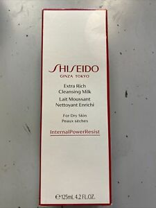 Shiseido Extra Rich Cleansing Milk (dry skin) 125ml Brand New In Box U.S. SELLER