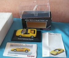 781 I HERPA GERMANY HIGH TECH COLLECTION FERRARI TESTAROSSA SPYDER  BOITE 1/43