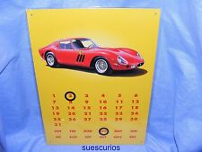 Metal Advertising Sign Car Ferrari Magnetic Calendar