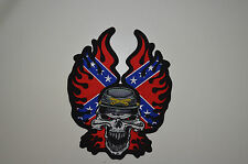 Patch écusson  tête de mort  drapeau  US , Bikers,custom,USA, ,Décoration ,