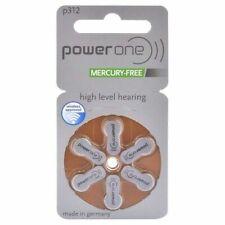 PowerOne P312-6PK-MF Pile Bouton Zinc-Air pour Appareil Auditif - Pack de 6