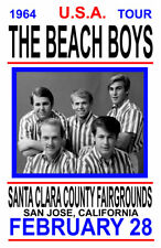 BEACH BOYS REPLICA 1964 CONCERT POSTER
