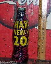 2014 WORLD OF COCA COLA HAPPY NEW YEAR 2015 8 OZ GLASS WRAPPED COCA  COLA BOTTLE