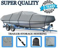 GREY BOAT COVER FITS HYDRA SPORT DV 200 WT O/B 1990 1991 TRAILERABLE HEAVY-DUTY