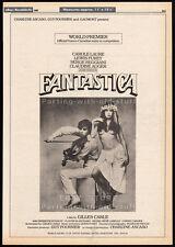 FANTASTICA__Original 1980 Cannes Trade AD / poster__CAROLE LAURE__CLAUDINE AUGER