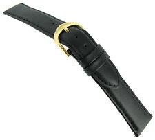 20mm Speidel Express Stitched Genuine Calfskin Black Watch Band EZ Pin TX48320BK