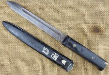 Improvised Italian fighting knife. Made from M38 Carcano baynet?