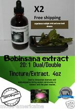 Lucid Dreaming Extract Tincture 4oz Bobinsana Grounding Ayahuasca ( Lot of 2)