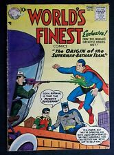 World's Finest #94 VG  3.5, Origin Batman Superman Team, 1st app. Rocket Raiders