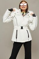 Topshop Womens Ski Jacket With Faux Fur Hood Size UK 6 8 10 12 14 NEW 2018 WHITE