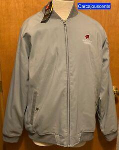 Under Armour Men's Wisconsin Badgers Full Zip Jacket Gray Size Large